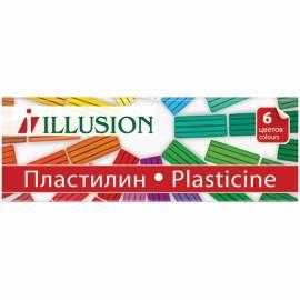 "Пластилин Гамма ""Illusion"", 06 цветов, 84г, картон"