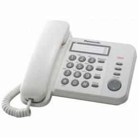 Телефон проводной Panasonic KX-TS2352RUW, повторный набор, индикатор вызова, белый