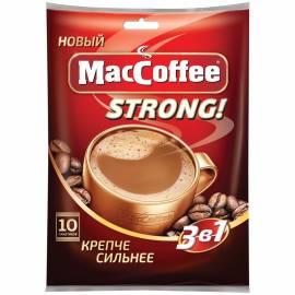 """Кофе растворимый MacCoffee """"Strong"""" 3 в1, 10 пакетиков*16г"""