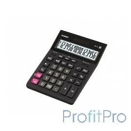 Калькулятор настольный CASIO GR-16(-W-EH) черный Калькулятор, 16-разрядный