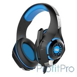 CROWN CMGH-101T Black&blue (Подключение jack 3.5мм 4pin+ адаптер 2*jack spk+mic,Частотныи? диапазон: 20Гц-20,000 Гц ,Кабель 2.1