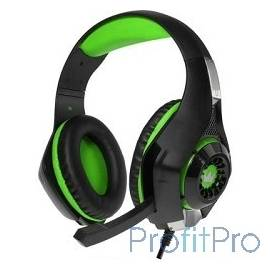 CROWN CMGH-101T Black&green (Подключение jack 3.5мм 4pin+ адаптер 2*jack spk+mic,Частотныи? диапазон: 20Гц-20,000 Гц ,Кабель 2.