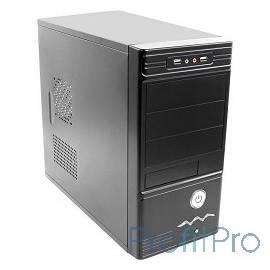Exegate EX156808RUS Корпус Minitower MA-368 Black, БП CP400, 80mm, mATX, 3*SATA, USB, Audio