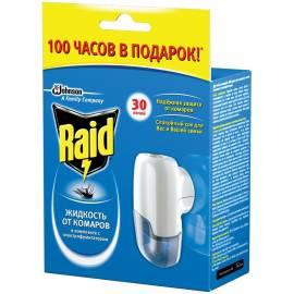 Фумигатор + жидкость от комаров Raid 30 ночей, картонная коробка