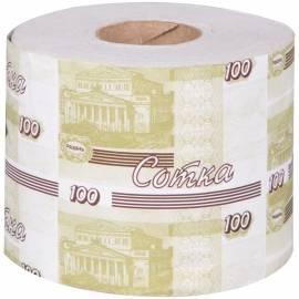 """Туалетная бумага Окская """"Сотка"""", с втулкой, серая"""