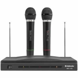 Микрофоны беспроводные Defender MIC-155, радиус 30м, набор 2шт, черный
