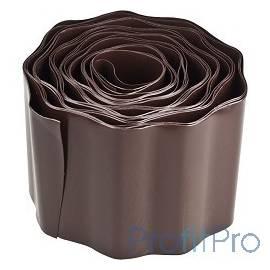 Лента бордюрная Grinda, цвет коричневый, 15смх9м [422247-15]