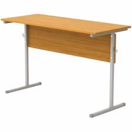 Стол-парта 2-мест. нерегулир.(ш1200*г500*в750мм) 6гр, серый каркас, ЛДСП бук, Ш-302