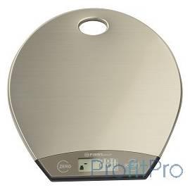 FIRST 6403-1 Весы кухонные, электр., 5 кг, 1 гр., сталь, подвешивание, тарокомпенсация SILVER