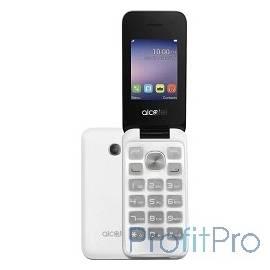 "Alcatel 2051D Pure White [2051D-3BALRU1] 2.4""240x320/MP3/FM/BT/16Мб/2MP/microSD/2 sim/Раскладушка"