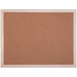 Доска пробковая OfficeSpace, 60*45см, деревянная рамка