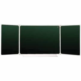 Доска магнитно-меловая OfficeSpace, трехсекционная, 300*100/100*75*2, алюминиевая рамка