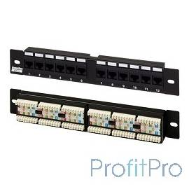 """Hyperline PP-10-12-8P8C-C5e-110D Патч-панель 10"""", уст. размер 254 мм, 12 портов RJ-45, категория 5e, Dual IDC"""