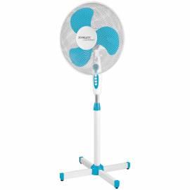 Вентилятор напольный Scarlett SC-SF111B12, голубой, белый