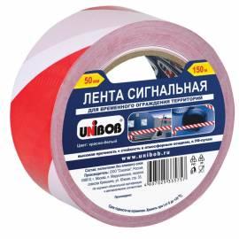 Лента сигнальная Unibob, 50мм*150м, красно-белая, ИУ