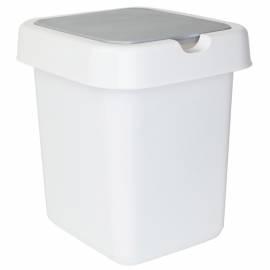 """Контейнер для мусора Svip """"Квадра"""", 14л, пластик, белый"""