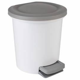 """Контейнер для мусора Svip """"Ориджинал"""", 6л, с педалью, пластик, белый"""