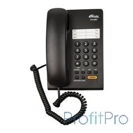 RITMIX RT-330 black Телефон проводной Ritmix RT-330 черный [повторный набор, регулировка уровня громкости, световая индикац]