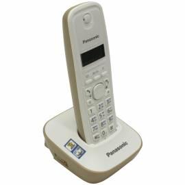 Телефон беспроводной Panasonic KX-TG1611RUJ, монохром. дисплей, АОН, 50 номеров, бежевый