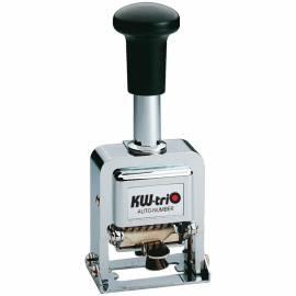 Нумератор автоматический KW-trio, 3,7мм, 8 разрядов, металлический