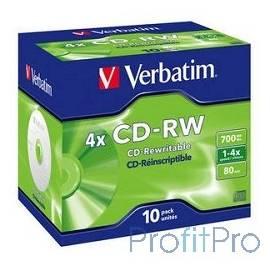 Verbatim Диск CD-RW 700Mb 2x-4x DataLife+ (10шт) (43123)