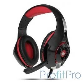 CROWN CMGH-101T Black&red (Подключение jack 3.5мм 4pin+ адаптер 2*jack spk+mic,Частотныи? диапазон: 20Гц-20,000 Гц ,Кабель 2.1м