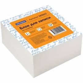 Блок для записи на склейке OfficeSpace, 8*8*4см, белый, белизна 70-80%