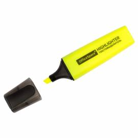 Текстовыделитель OfficeSpace желтый, 1-5мм