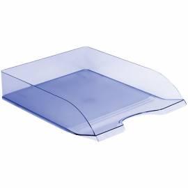 """Лоток для бумаг горизонтальный Стамм """"Дельта"""", тонированный голубой"""