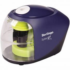 """Точилка электрическая Berlingo """"SystemX"""", 1 отверстие, с контейнером, картон. уп."""