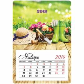 """Календарь отрывной на магните 95*135мм, склейка, OfficeSpace """"Mono - Дачный сезон"""", 2019г."""