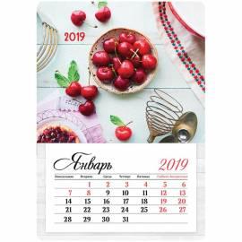 """Календарь отрывной на магните 95*135мм, склейка, OfficeSpace """"Mono - Сладкая черешня"""", 2019г."""
