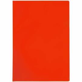 Папка-уголок OfficeSpace, A4, 100мкм, прозрачная красная