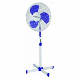Вентилятор напольный Scarlett SC-SF111B11, с подсветкой, синий, белый