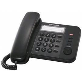 Телефон проводной Panasonic KX-TS2352RUB, повторный набор, индикатор вызова, черный