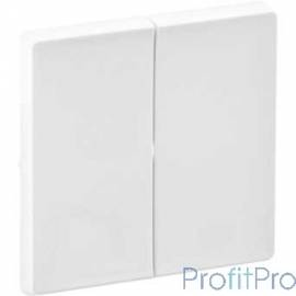 Legrand 755020 Valena LIFE.Лицевая панель для двухклавишного выключателя.Белая