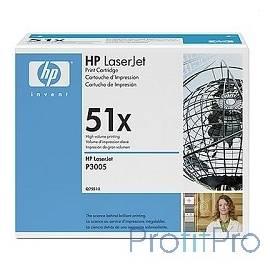 HP Q7551X Картридж ,BlackLaserJet P3005/M3027mfp/M3035mfp, Black, (13 000 стр.)
