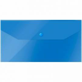 Папка-конверт на кнопке OfficeSpace, C6, 150мкм, полупрозрачная, синяя