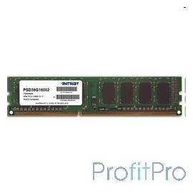 Patriot DDR3 DIMM 8GB (PC3-12800) 1600MHz PSD38G16002