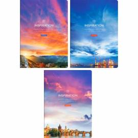 "Тетрадь 48л., А4, клетка ArtSpace ""Путешествия. Sky landscape"", глянцевый уф-лак"