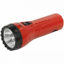 Фонарь Smartbuy SBF-93-R, светодиодный, аккумуляторный, 4 LED, прямая зарядка от сети, красный