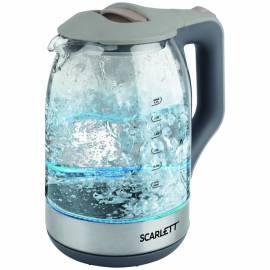 Чайник электрический Scarlett SC-EK27G42, 1,7л, 1800Вт, с подсветкой, стекло/пластик