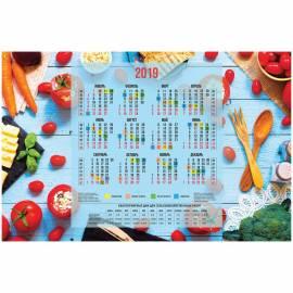 """Календарь настенный листовой А1, OfficeSpace """"Сад и огород"""", 2019г."""