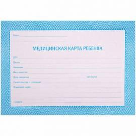 Медицинская карта ребенка (школьника) OfficeSpace , 32л, А5, блок офсет, ф.026/у синяя