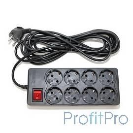 5bites SP8-B-30 Сетевой фильтр 5bites EXTRA, 8 розеток, 3x0.75mm2, 3м, черный