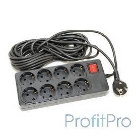 5bites SP8-B-75 Сетевой фильтр 5bites EXTRA , 8 розеток, 3x0.75mm2, 7.5м, черный