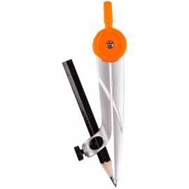 Циркуль ArtSpace металлический, 120мм, с карандашом, ПВХ чехол, ассорти