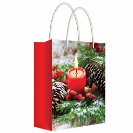 """Пакет подарочный новогодний 13,5*18*6см Русский дизайн """"Загадай желание"""", ламинированный"""