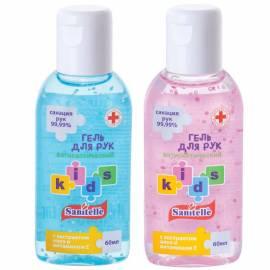 "Средство антисептическое детское Sanitelle, гель, аромат ""Bubble Gum"", витамин Е, 60мл"