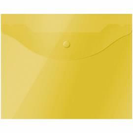 Папка-конверт на кнопке OfficeSpace, А5 (190*240мм), 150мкм, полупрозрачная, желтая